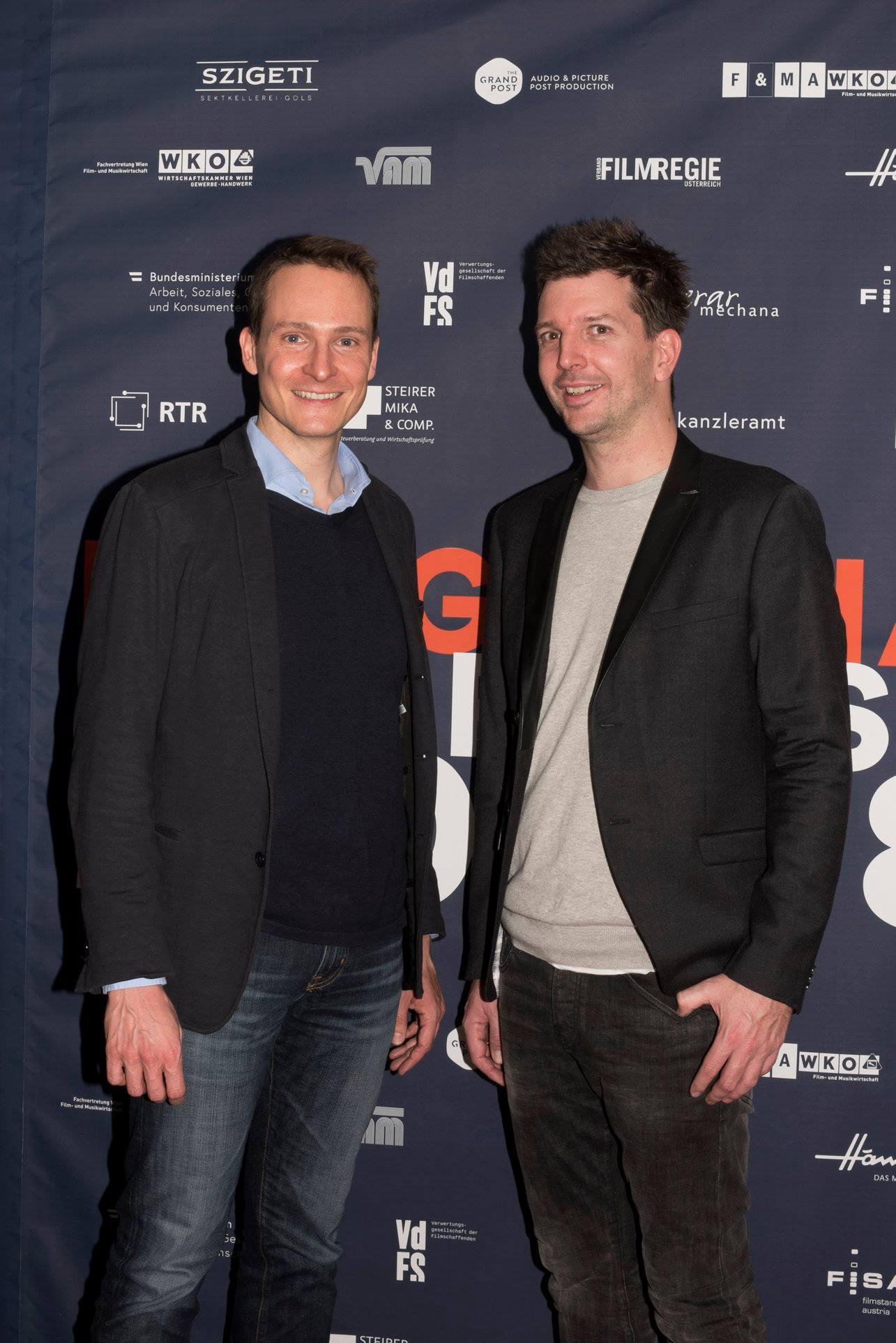 Sponsoren der Sachpreise: Marco Zinz und Alexander Fischbacher (The Grand Post)